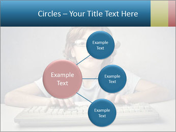 Child typing PowerPoint Template - Slide 79