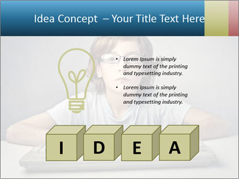 Child typing PowerPoint Template - Slide 80