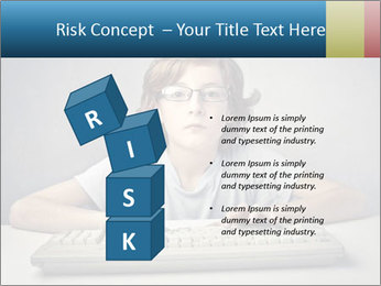 Child typing PowerPoint Template - Slide 81