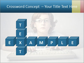 Child typing PowerPoint Template - Slide 82