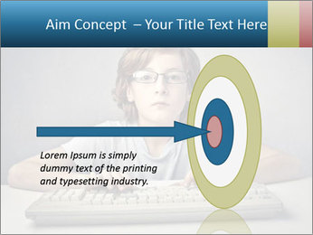 Child typing PowerPoint Template - Slide 83