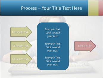 Child typing PowerPoint Template - Slide 85