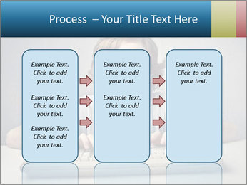 Child typing PowerPoint Template - Slide 86