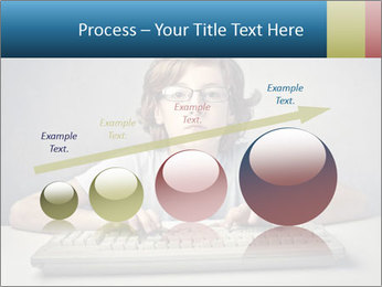 Child typing PowerPoint Template - Slide 87