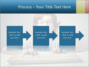 Child typing PowerPoint Template - Slide 88