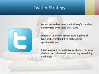 Child typing PowerPoint Template - Slide 9