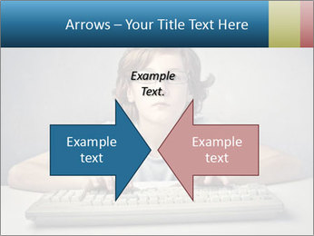 Child typing PowerPoint Template - Slide 90