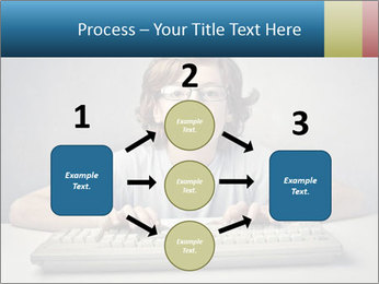 Child typing PowerPoint Template - Slide 92