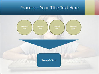Child typing PowerPoint Template - Slide 93