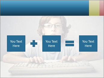Child typing PowerPoint Template - Slide 95