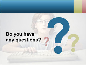 Child typing PowerPoint Template - Slide 96