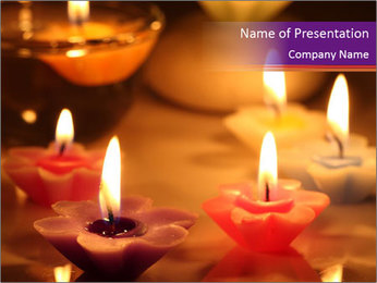 Candles PowerPoint Templates - Slide 1