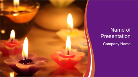 Candles PowerPoint Template