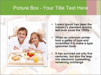 Healthy kids having a light breakfast PowerPoint Template - Slide 13