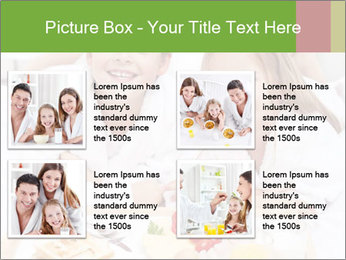 Healthy kids having a light breakfast PowerPoint Template - Slide 14