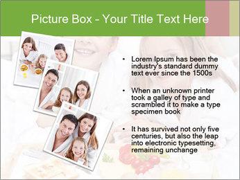 Healthy kids having a light breakfast PowerPoint Templates - Slide 17