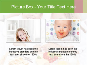 Healthy kids having a light breakfast PowerPoint Template - Slide 18