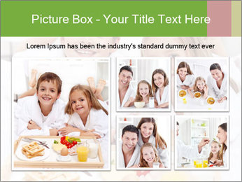 Healthy kids having a light breakfast PowerPoint Template - Slide 19