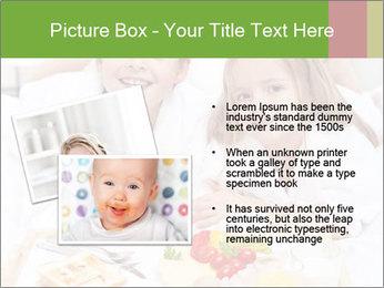 Healthy kids having a light breakfast PowerPoint Templates - Slide 20