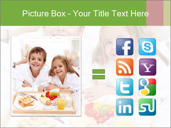 Healthy kids having a light breakfast PowerPoint Template - Slide 21