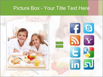 Healthy kids having a light breakfast PowerPoint Templates - Slide 21
