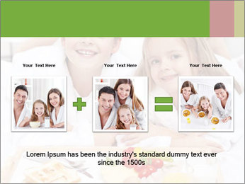 Healthy kids having a light breakfast PowerPoint Template - Slide 22