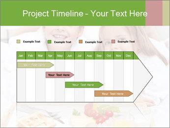 Healthy kids having a light breakfast PowerPoint Templates - Slide 25