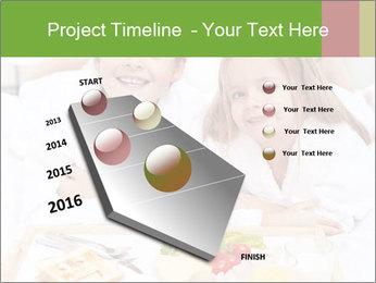 Healthy kids having a light breakfast PowerPoint Templates - Slide 26