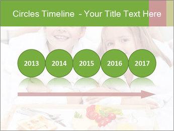 Healthy kids having a light breakfast PowerPoint Templates - Slide 29