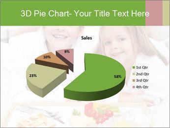 Healthy kids having a light breakfast PowerPoint Templates - Slide 35