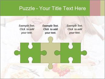 Healthy kids having a light breakfast PowerPoint Templates - Slide 42