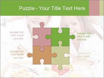 Healthy kids having a light breakfast PowerPoint Templates - Slide 43