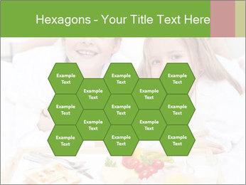Healthy kids having a light breakfast PowerPoint Templates - Slide 44