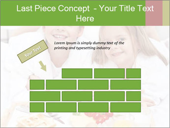 Healthy kids having a light breakfast PowerPoint Template - Slide 46