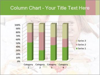 Healthy kids having a light breakfast PowerPoint Templates - Slide 50