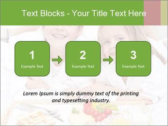 Healthy kids having a light breakfast PowerPoint Templates - Slide 71