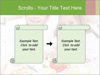 Healthy kids having a light breakfast PowerPoint Templates - Slide 74