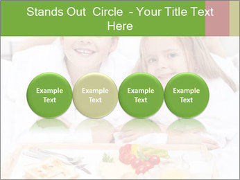 Healthy kids having a light breakfast PowerPoint Templates - Slide 76