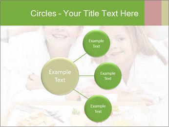 Healthy kids having a light breakfast PowerPoint Templates - Slide 79