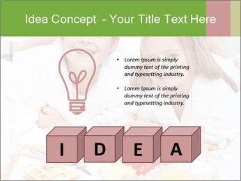 Healthy kids having a light breakfast PowerPoint Templates - Slide 80