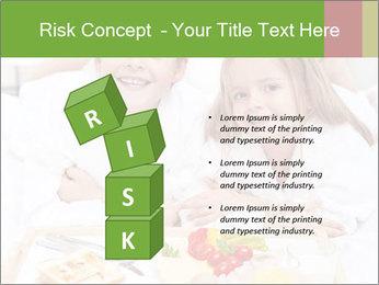 Healthy kids having a light breakfast PowerPoint Templates - Slide 81