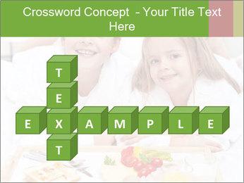 Healthy kids having a light breakfast PowerPoint Templates - Slide 82