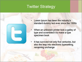 Healthy kids having a light breakfast PowerPoint Template - Slide 9