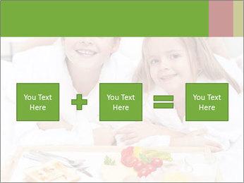 Healthy kids having a light breakfast PowerPoint Templates - Slide 95