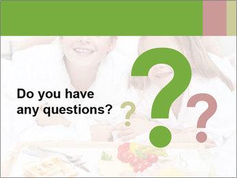 Healthy kids having a light breakfast PowerPoint Templates - Slide 96