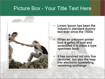 Hiker woman helps PowerPoint Templates - Slide 13