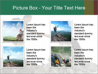 Hiker woman helps PowerPoint Templates - Slide 14
