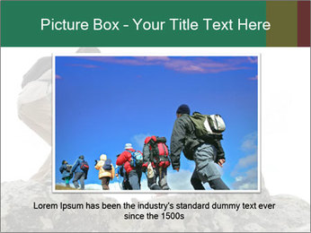 Hiker woman helps PowerPoint Templates - Slide 16