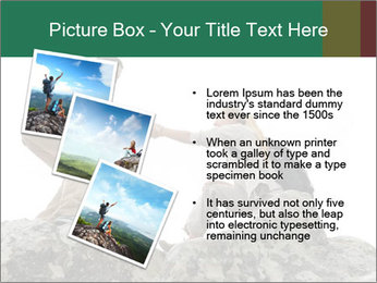 Hiker woman helps PowerPoint Templates - Slide 17
