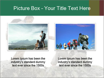 Hiker woman helps PowerPoint Templates - Slide 18